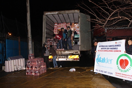 A Truck Of Aids From Kayseri To Bayırbucak