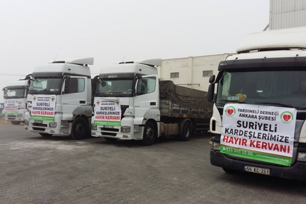 10 TRUCKS of Food and Flour from Yardımeli to the Region